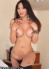 It's that time for another sexy, beautiful transsexual by the name of Carla Abiazzi. This girl just loves having some solo fun to herself while w