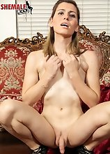 Korra Del Rio is a pretty tgirl with a sexy slim body,natural hormone breasts and a nice bubble butt! See this hot Grooby girl fucking herself with he