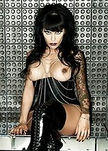 Naughty emo transsexual Foxxy posing